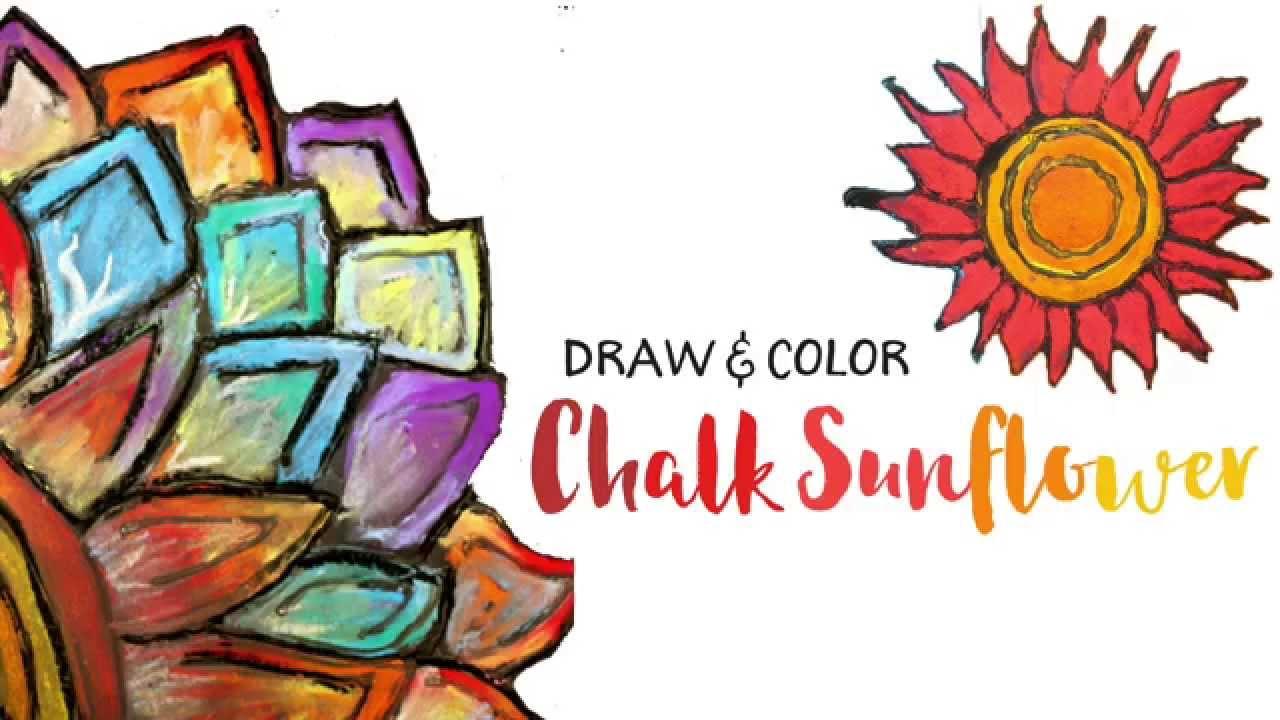 Art clipart art project. Chalk sunflower for kids