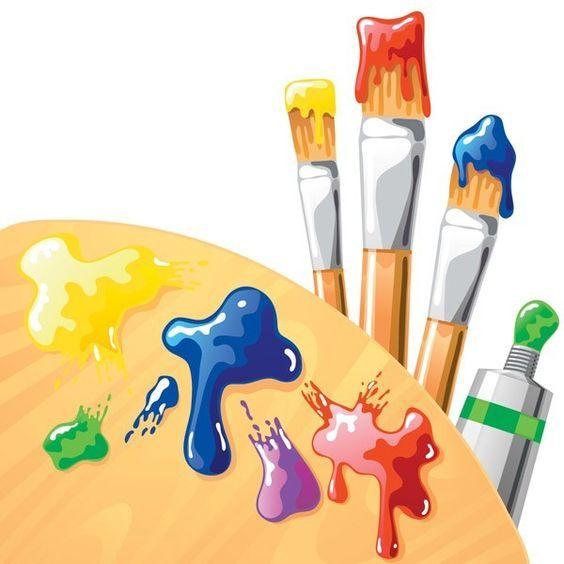 Art clipart art supply.  best paint party