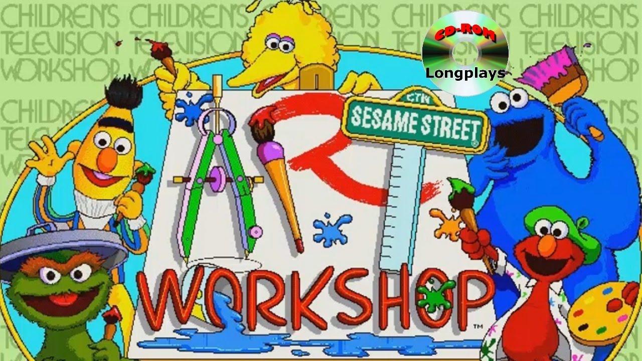 Sesame street cd rom. Art clipart art workshop