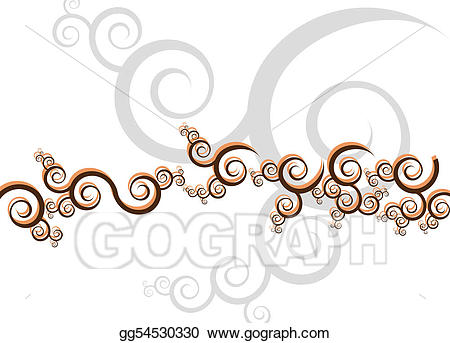 Eps vector swirls swoosh. Art clipart artsy
