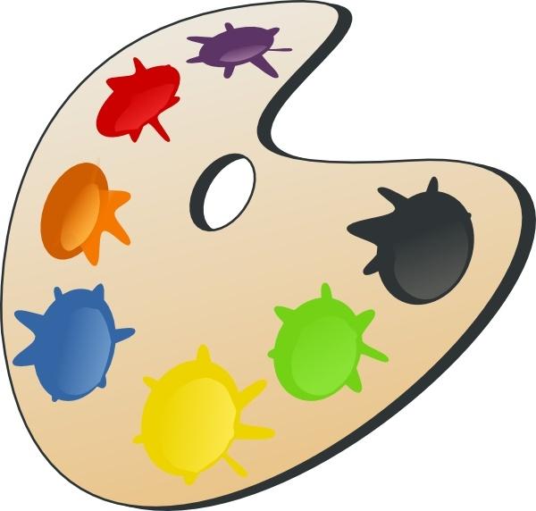 Palette clip art free. Color clipart