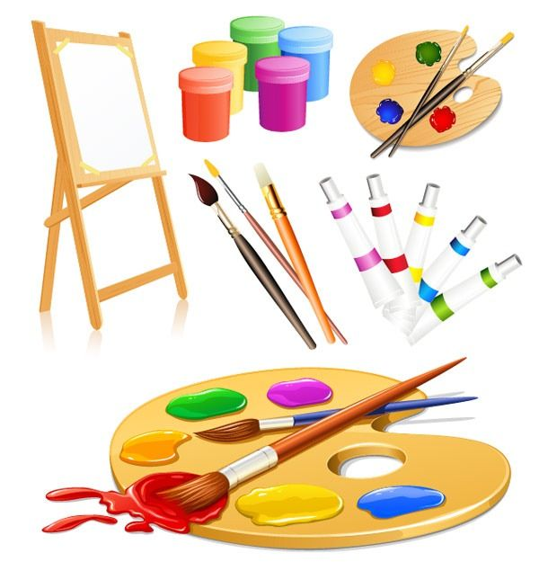 Artist clipart colour palette.  best paletas de