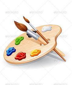 Elementary school clip paint. Art clipart color palette