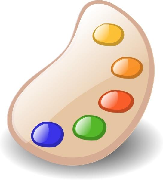Painter clip free vector. Art clipart color palette