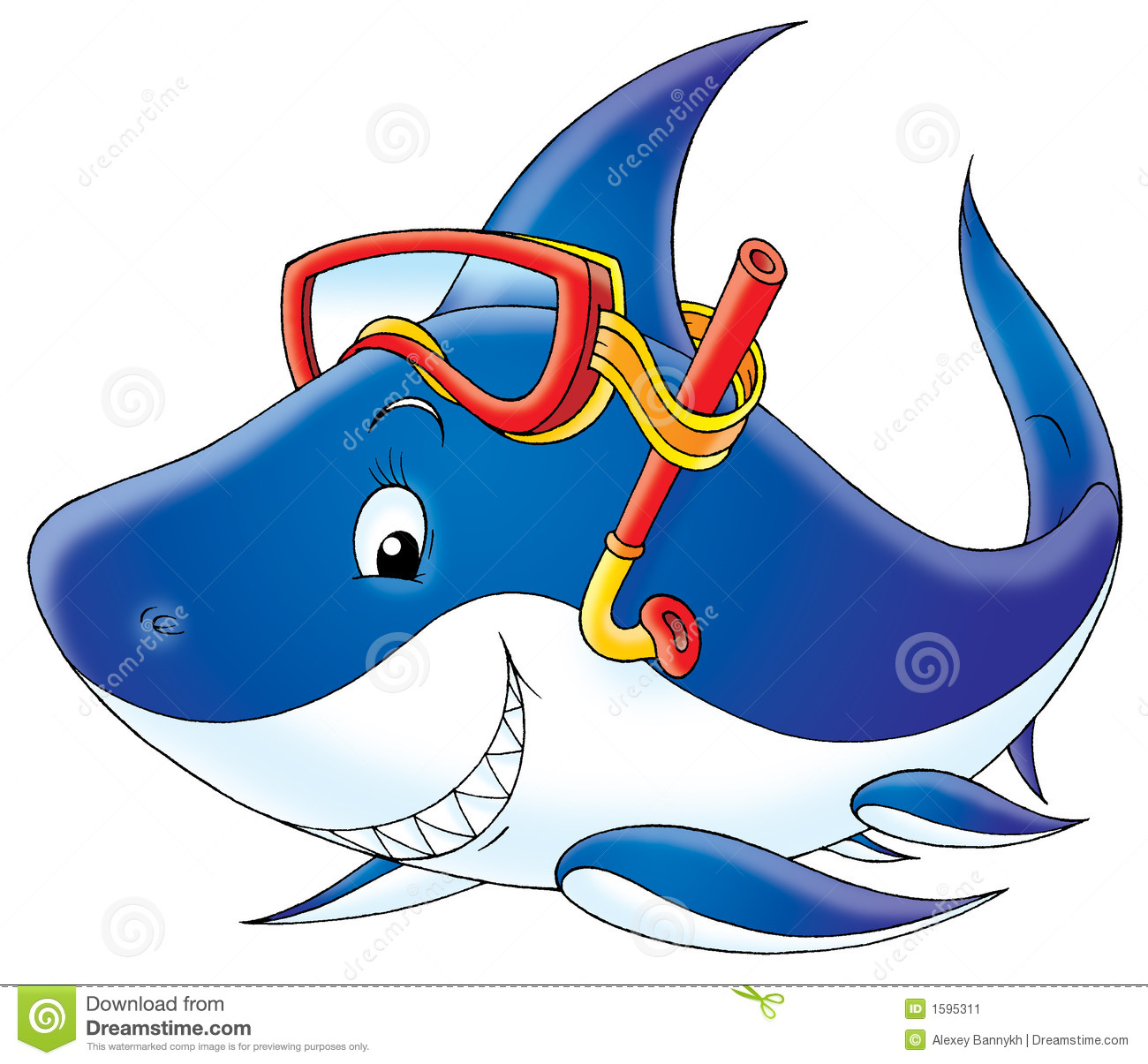 Clipart shark happy. Bull cute face pencil