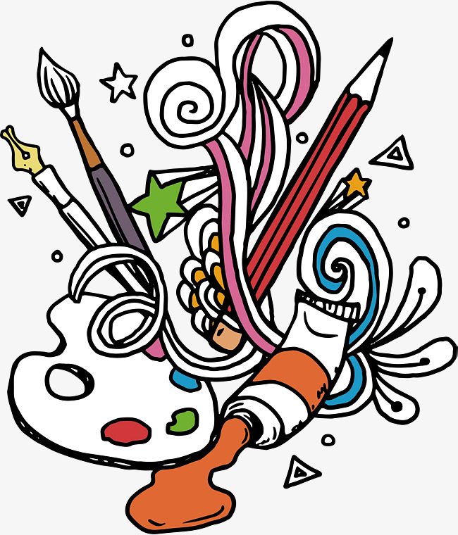 Tool illustration tools arts. Art clipart fine art