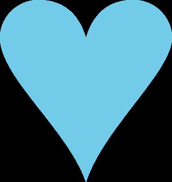 Clip images blue. Art clipart heart