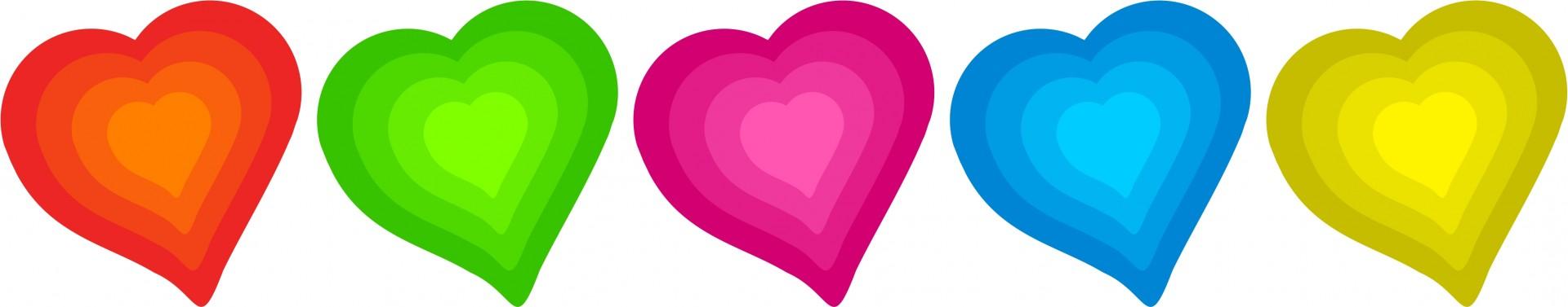 Pretty hearts border clip. Art clipart heart