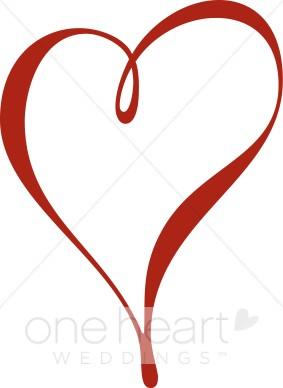 Red clip art. Heart clipart script