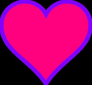 Magenta purple clip at. Art clipart heart