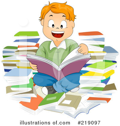 Review station . Art clipart literature
