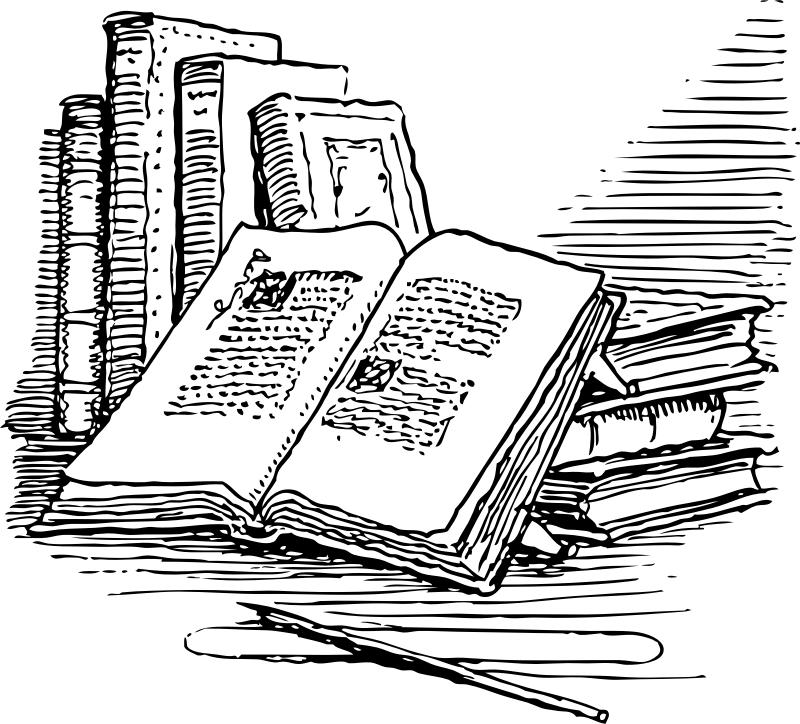 Clip art cmos shop. Books clipart sketch