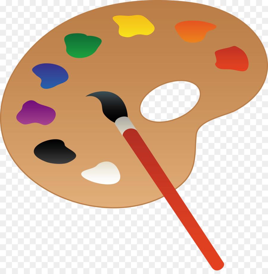 Art clipart oil painting. Palette paint clip cartoon