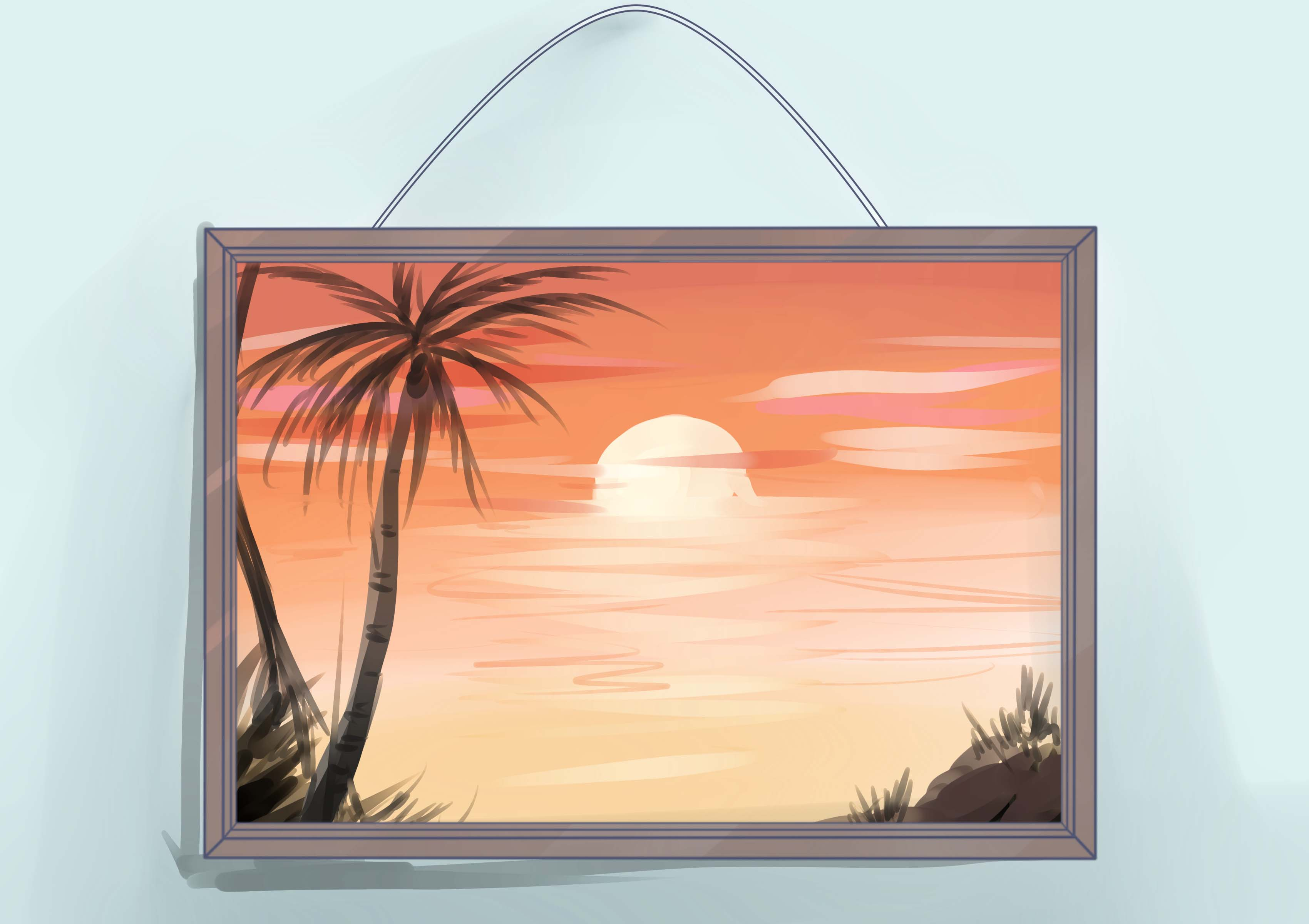 Art clipart oil painting. How to frame an