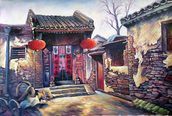 Art clipart oil painting. Hand painted chinese folk