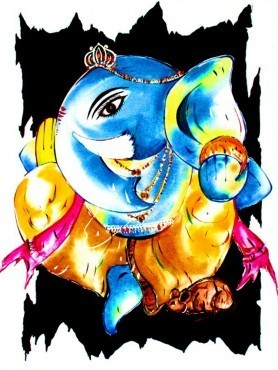 Lord ganesha at rs. Art clipart oil painting