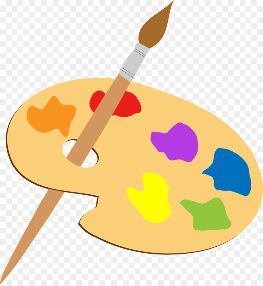 Palette art painting paintbrush. Brush clipart artist brush