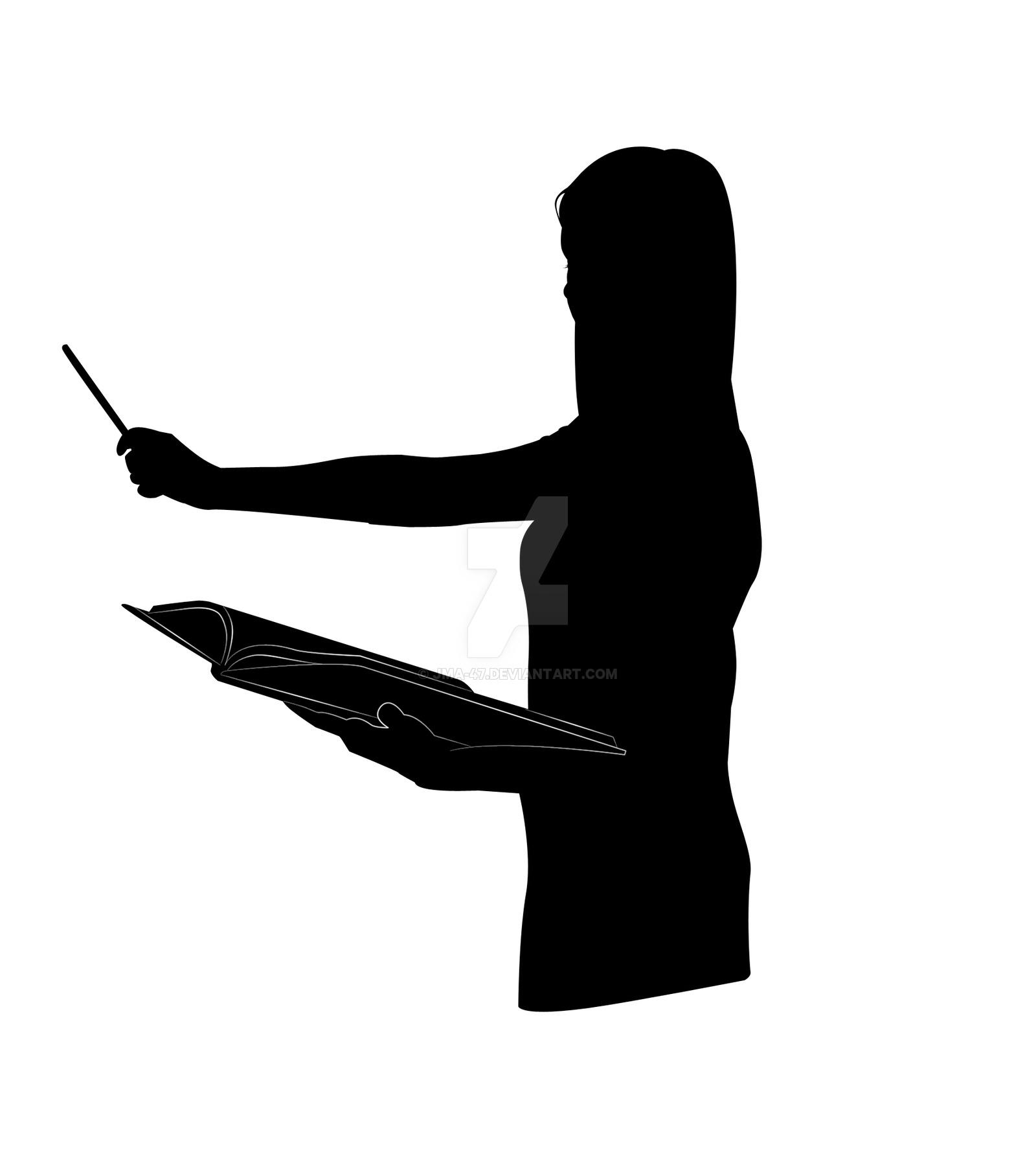 Art clipart silhouette. Teacher
