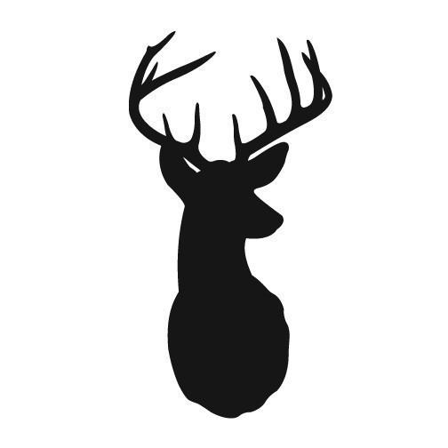 Antlers clipart buck antler. Free deer silhouette download