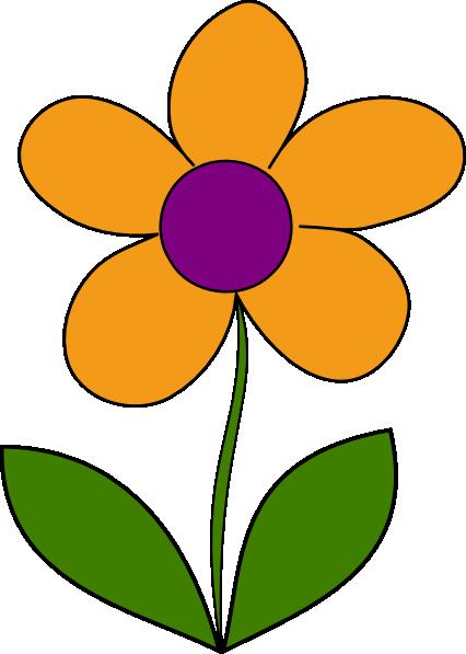 Beautiful clipart spring. Orange flower clip art