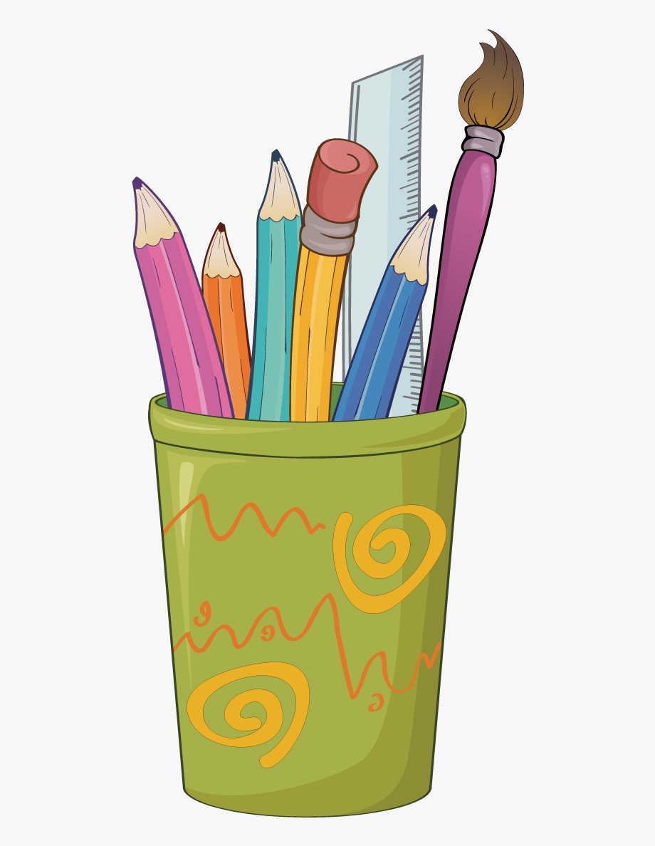Clipart pencil stationery. Paper colored drawing clip