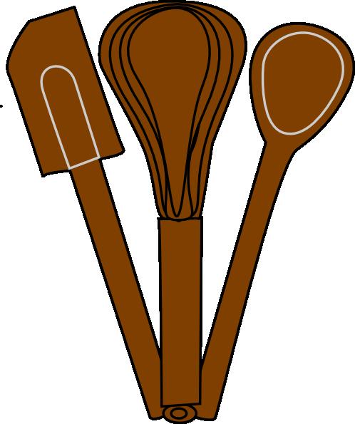 Brown utensils clip art. Baking clipart baking utensil