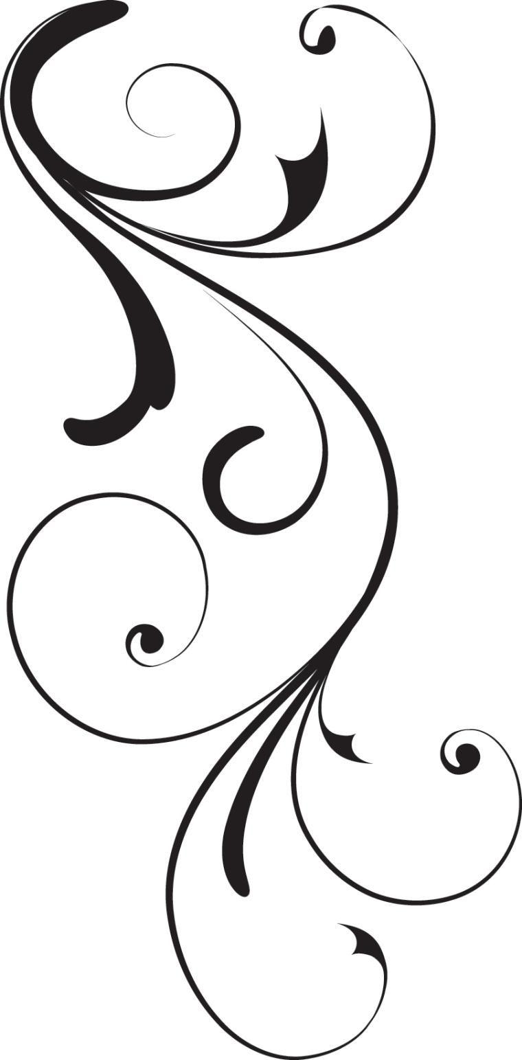 Art clipart vector. Swirl corner black design