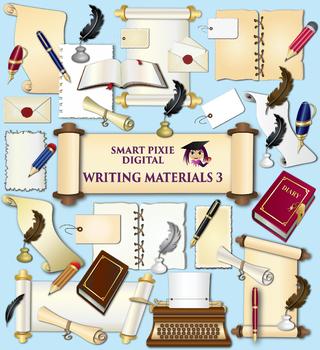 Art clipart writing material. Clip materials