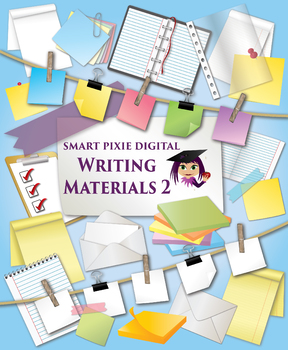 Art clipart writing material. Clip materials by smart