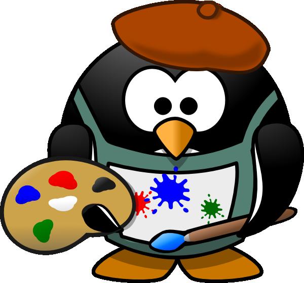 Artist clip free panda. Art clipart