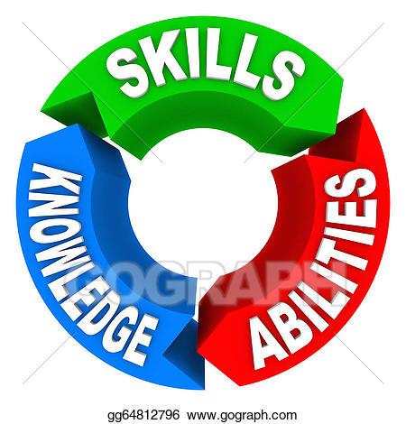 Stock illustration skills knowledge. Artist clipart ability