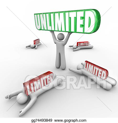 Drawing unlimited vs limited. Artist clipart ability