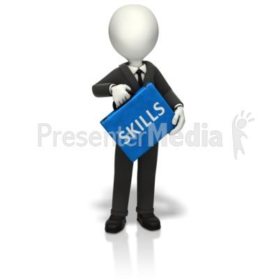 Artist clipart ability. Businessman skills briefcase business