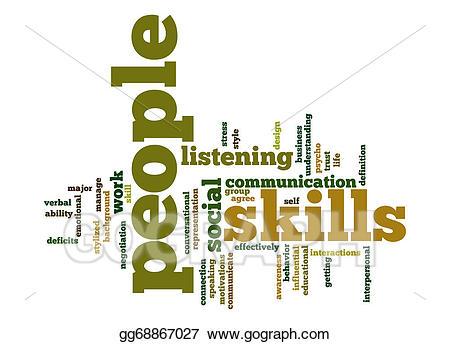Stock illustration people skills. Artist clipart ability