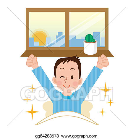Artist clipart ability. To wake up stock