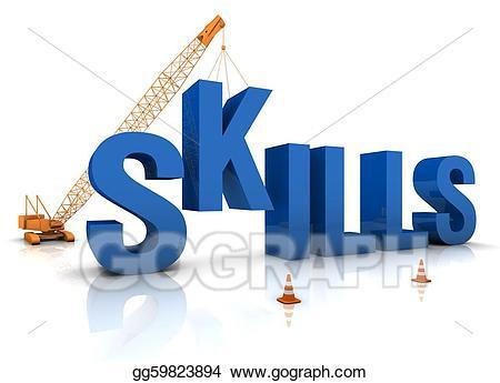 Stock illustration developing skills. Artist clipart ability