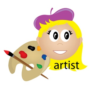 Artist clipart animated. Free image business artistic