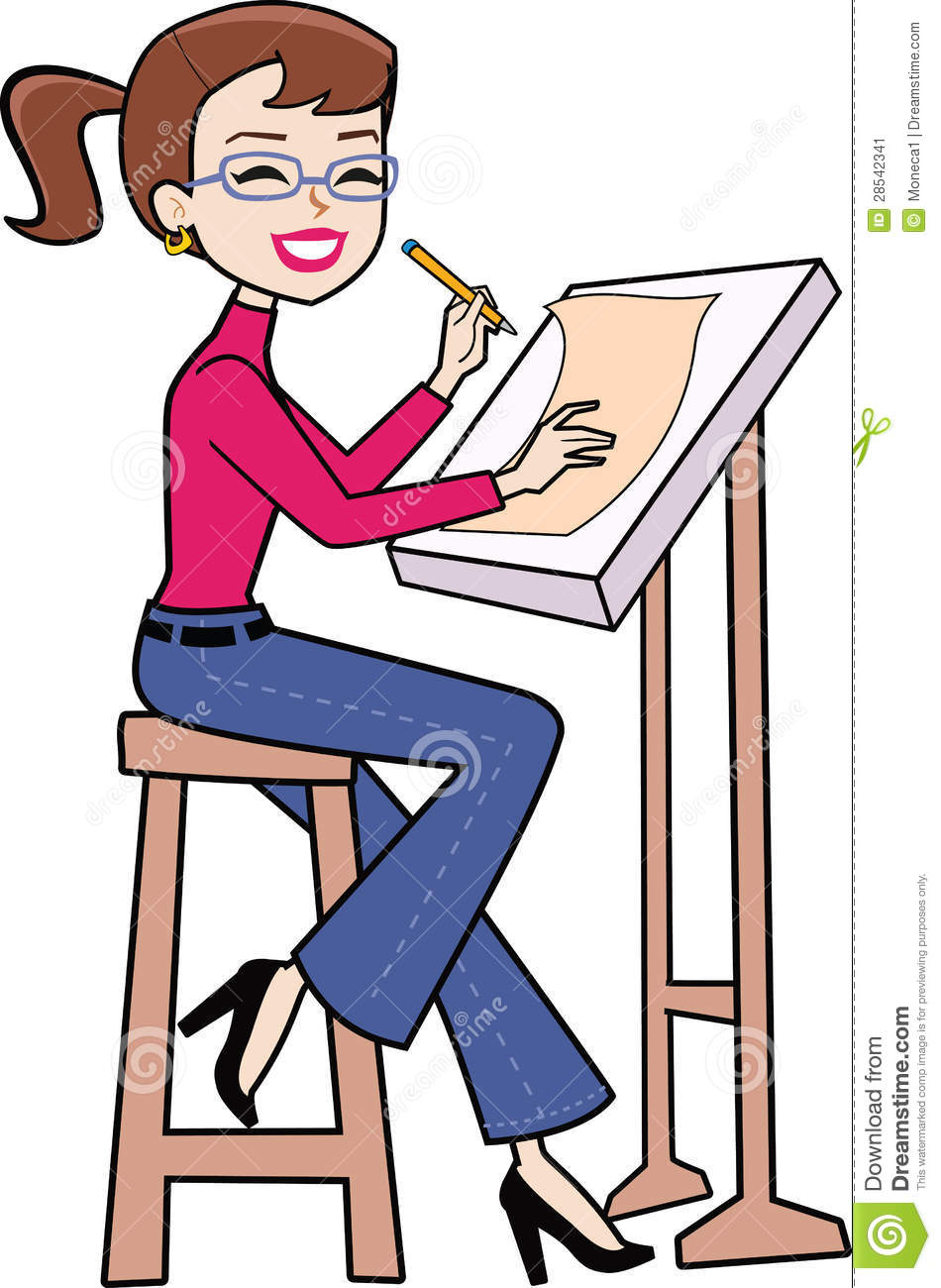 Drawing clipart woman artist. Someone clip art at