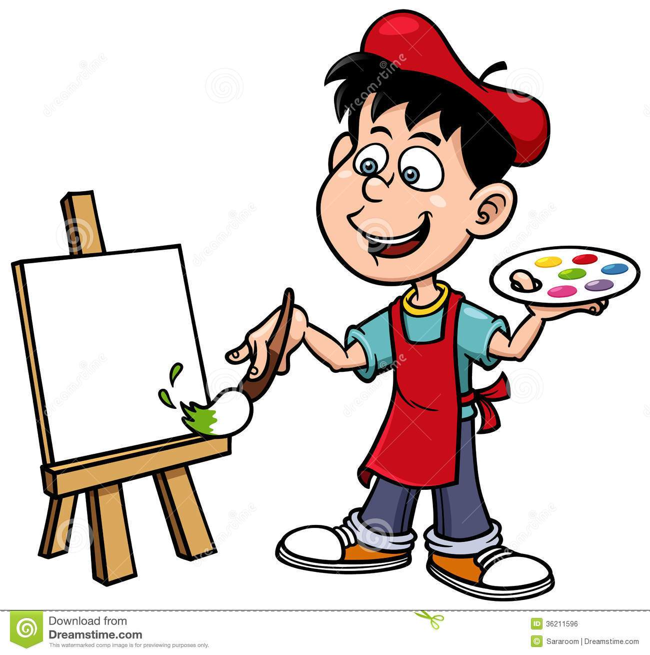 Cartoon portal . Artist clipart animated