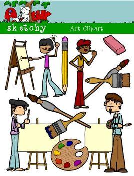 Materials supplies graphics dpi. Artist clipart art material