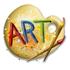 Artist clipart art room. Paint brushes arts colours