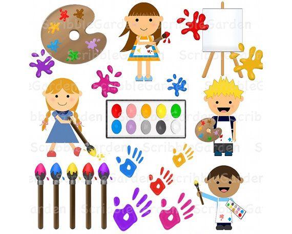 best classroom theme. Artist clipart art room