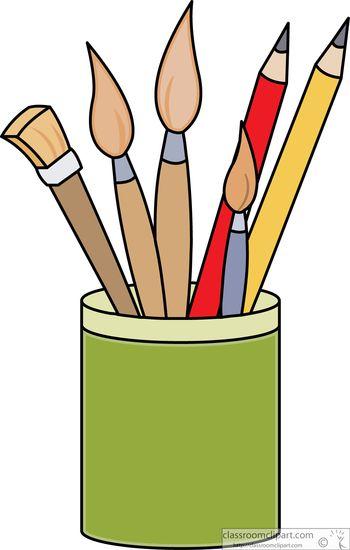 Pencil clipart art supply. Tashuaschool com monthly newsletter