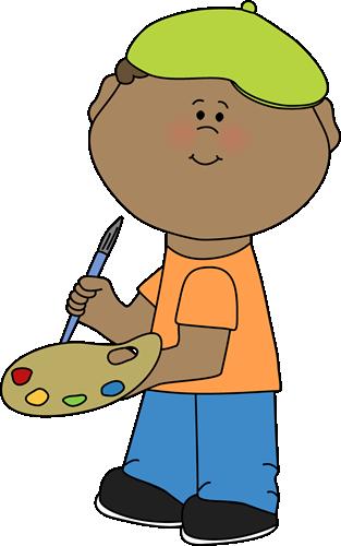 Art clipart cartoon. Class clip images boy