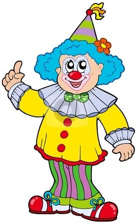 Clown clipart. Funny pictures smiling stock