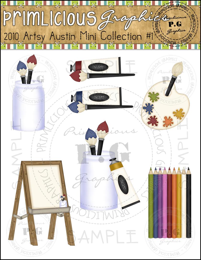 Austin collection primlicious clip. Artist clipart artsy
