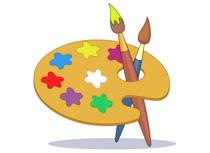 Artist clipart artwork. Free art supplies clip