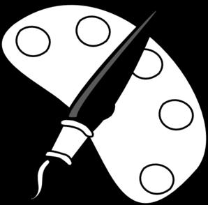 Artist clipart black and white. Paint brush clip art