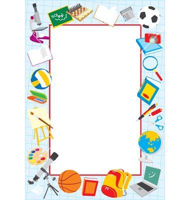 School clip art borders. Artist clipart border