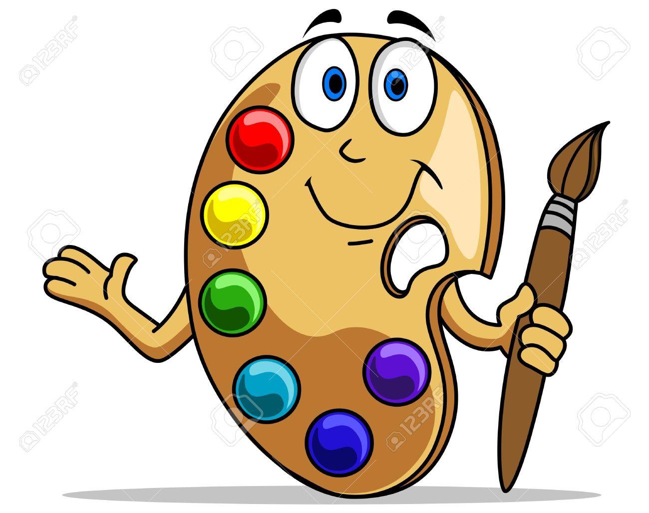 Art pallet clip free. Artist clipart cartoon